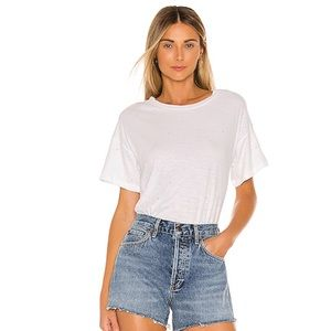 LNA Crop T-Shirt With Rhinestones White NWT